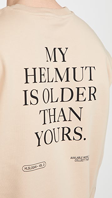 Helmut Lang Older Slogan Crew Neck Sweatshirt