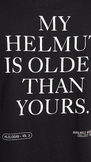 Helmut Lang Older Slogan T-Shirt