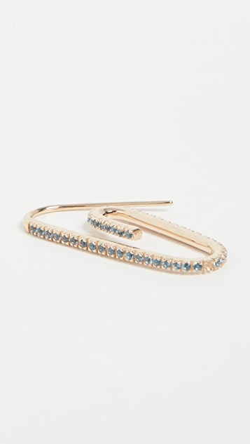 Hillier Bartley Classic Pave Paperclip Earring