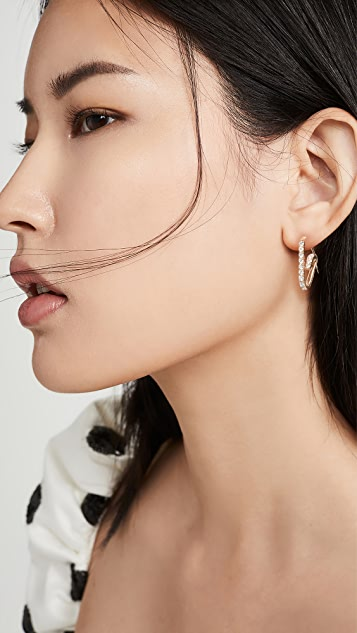 Hillier Bartley Jumbo Pave Paperclip Earring
