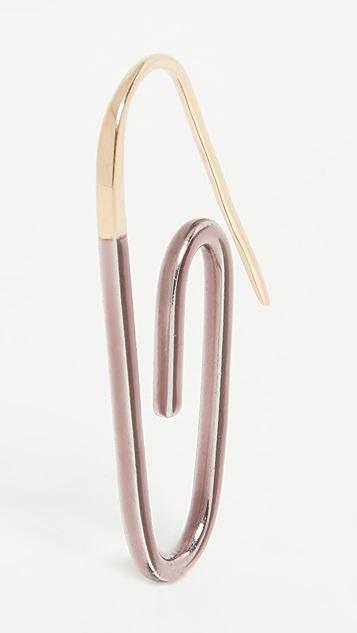 Hillier Bartley 金属色珐琅回形针耳环