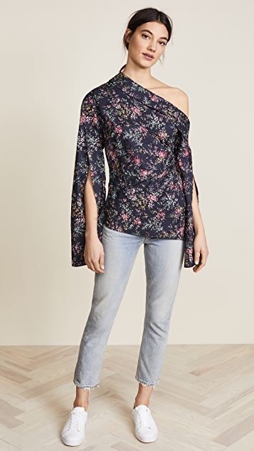 Hellessy Astrid Off Shoulder Button Down Shirt