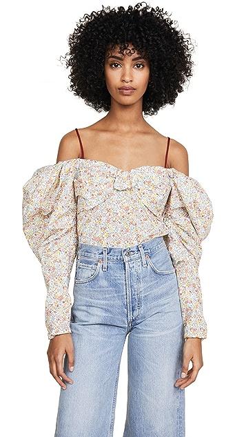 Hellessy Lauren Floral OTS Blouse