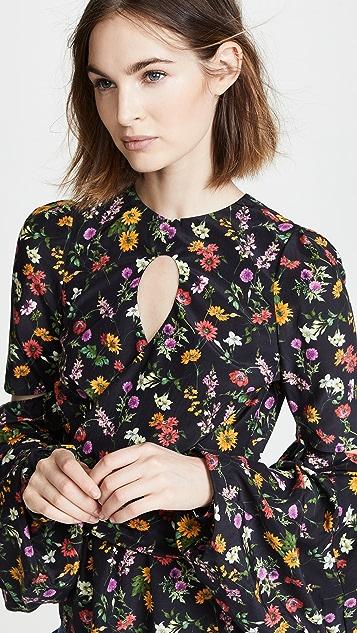 Hellessy Celeste Keyhole Floral Blouse