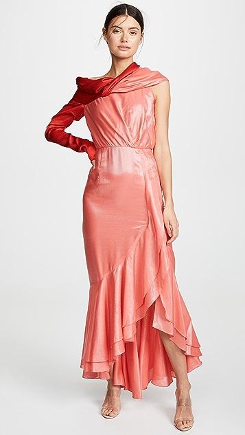 Hellessy Вечернее платье с асимметричной драпировкой Eden