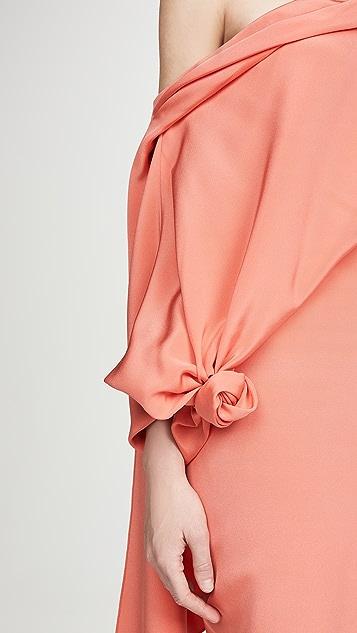 Hellessy Jade 真丝绉绸缎面礼服