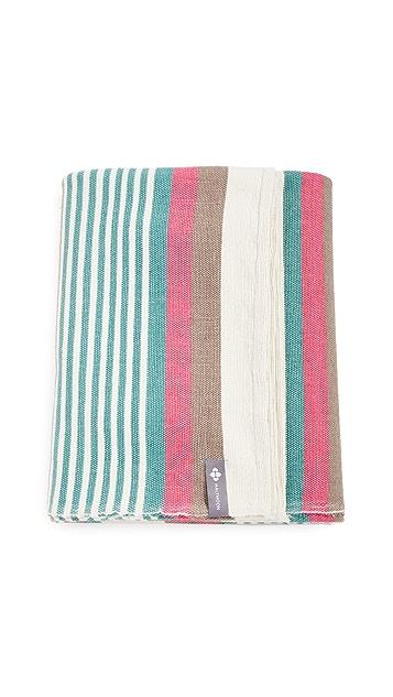 Halfmoon Yoga Beach Stipe Cotton Yoga Blanket