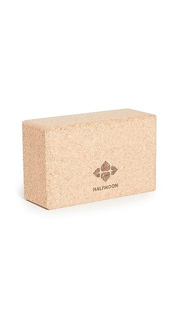 Halfmoon Yoga Cork Yoga Block