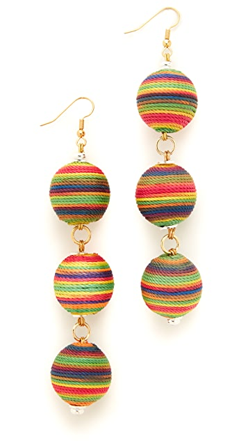 Holst + Lee Sunrise Triple Ball Earrings