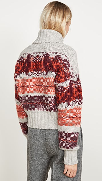 HOLZWEILER Cropped Knit Sweater