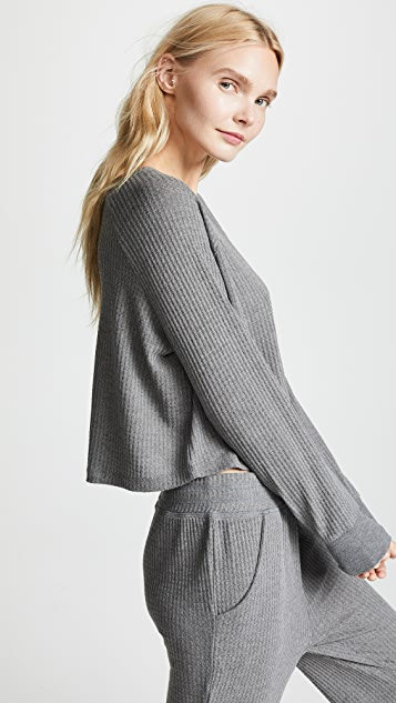 Honeydew Intimates Sneak Peek 华夫格针织短款运动衫