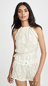 Siesta Sweetheart Embroidered Top