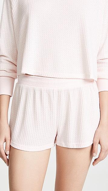 Honeydew Intimates Sneak Peek Waffle Knit Lounge Shorts
