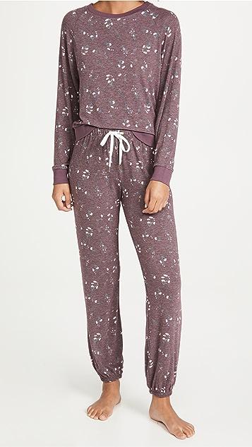 Honeydew Intimates Star Seeker 起绒平纹针织居家套装