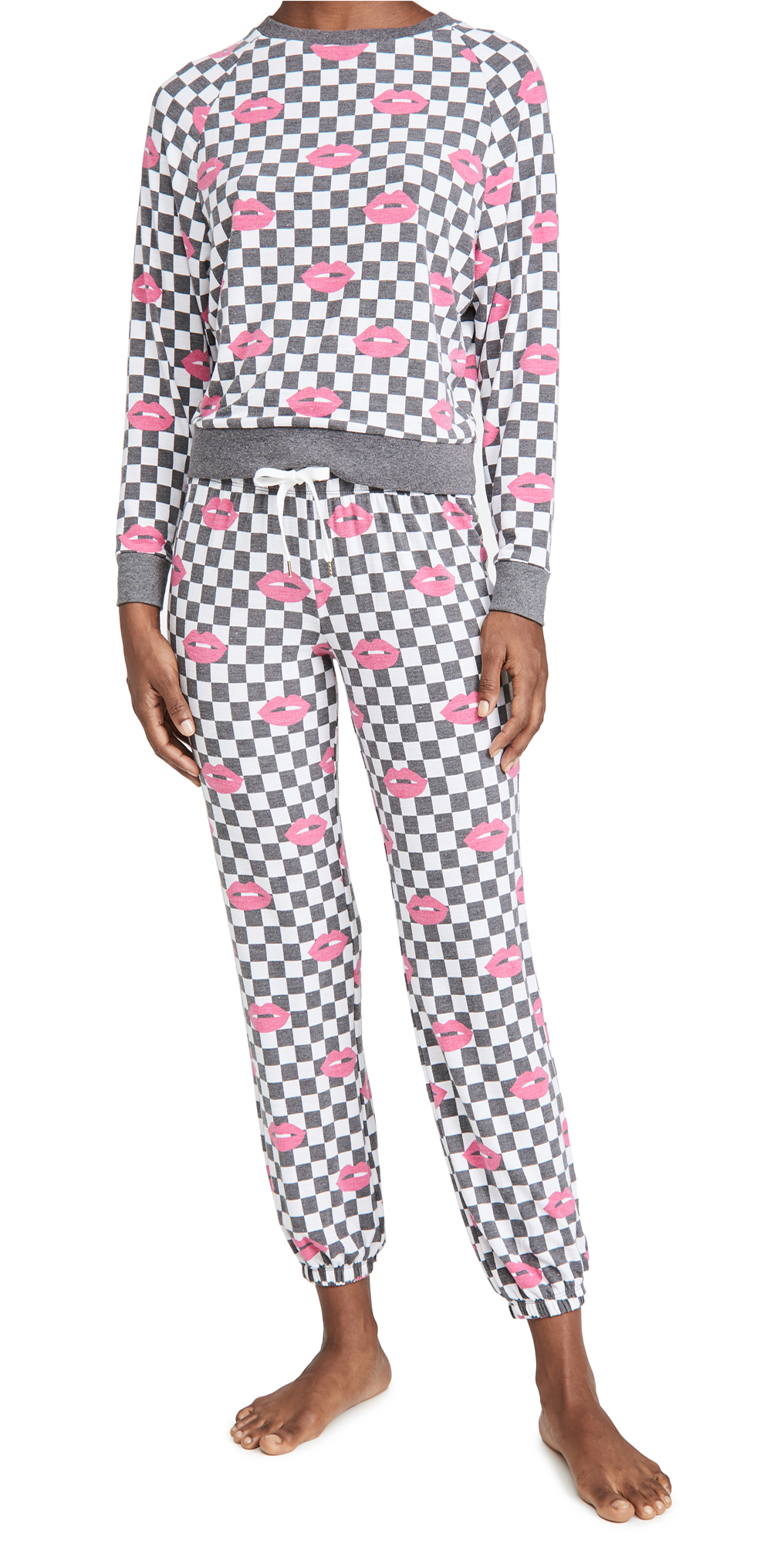 Honeydew Intimates Black Check Lounge Set