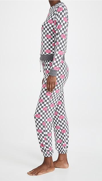 Honeydew Intimates 黑色格纹居家套装