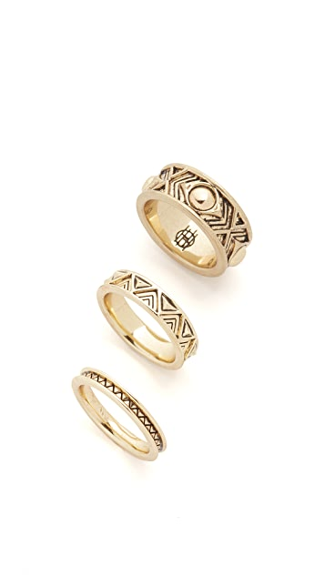 House of Harlow 1960 Dorelia Stacked Ring Set