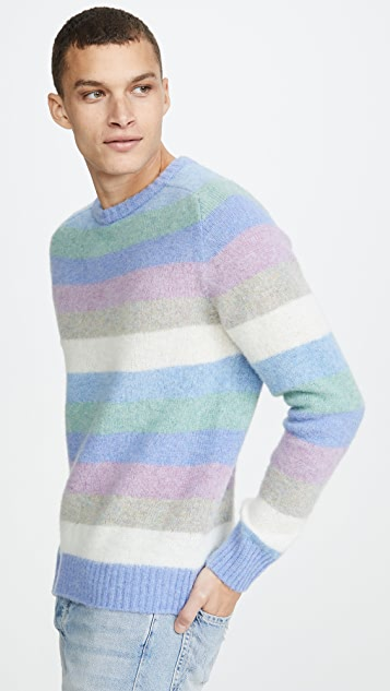 Howlin' Wool Digger Multi Stripe Sweater