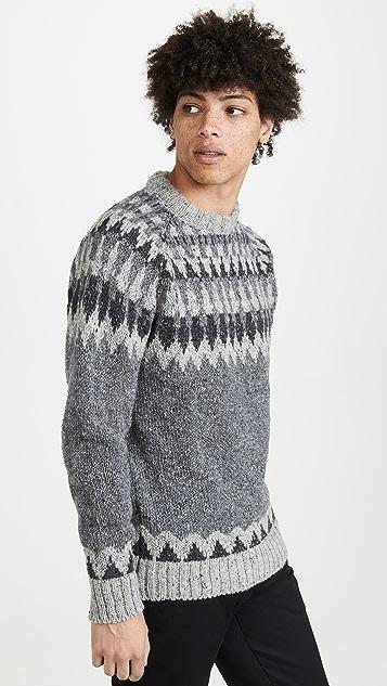 Howlin' Before The Snowfall Fair Isle Sweater