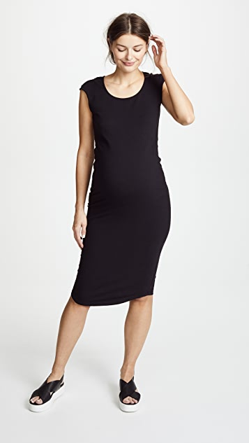 MONROW Maternity Cap Sleeve Dress