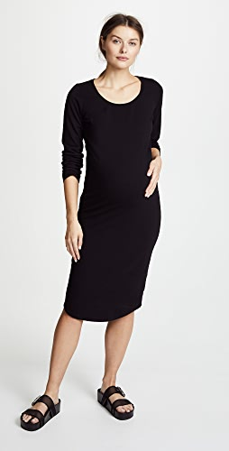 MONROW - Maternity Long Sleeve Dress