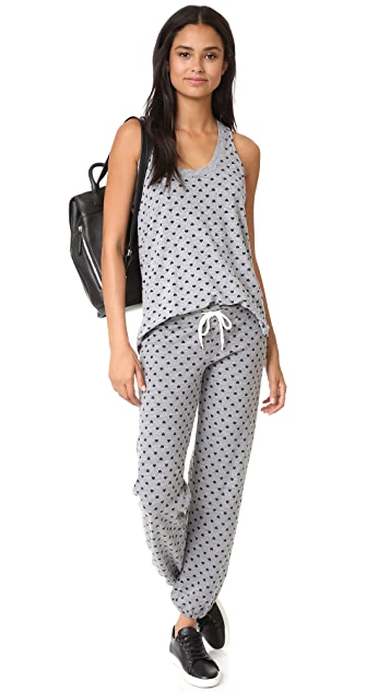MONROW Polka Hearts Oversized Narrow Tank