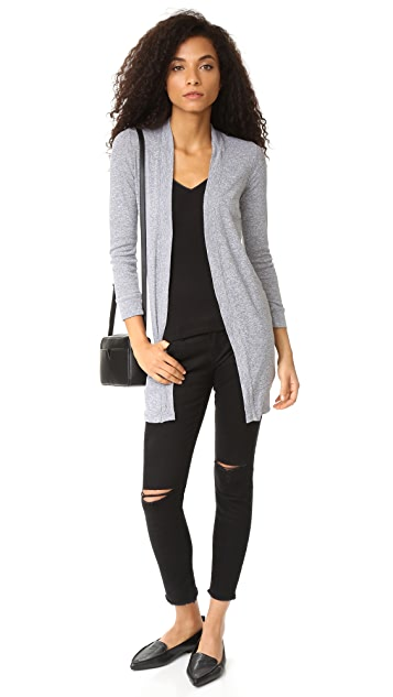 MONROW Shirred Cardigan