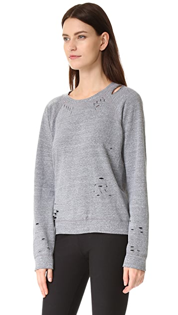 MONROW Heather Vintage Crew Sweatshirt