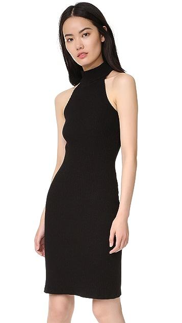 MONROW Turtleneck Halter Dress