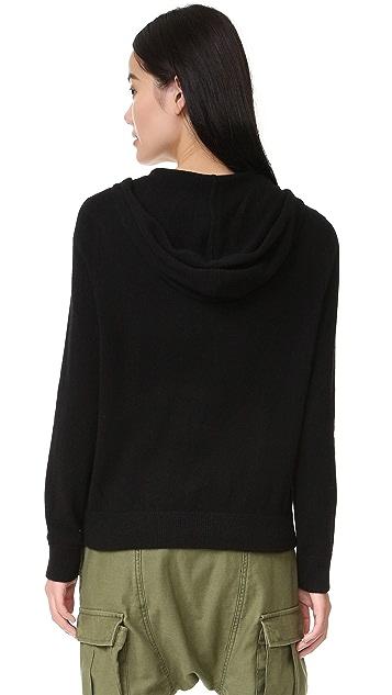 MONROW Cashmere Zip Up Hoodie