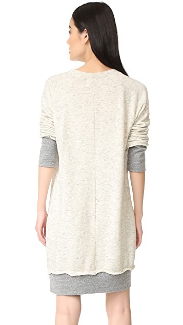 MONROW Double Layer Sweater Dress