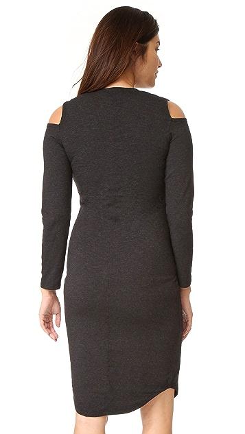 MONROW Maternity Cutout Shoulder Dress