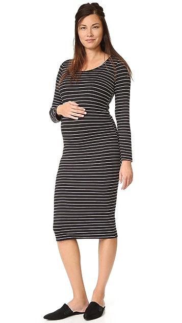 3d8cb9a0e99 MONROW Maternity Stripe Dress