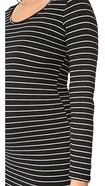 MONROW Maternity Stripe Dress