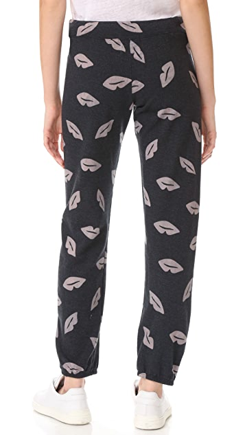 MONROW Lip Print Sweats