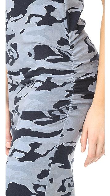 MONROW Shirred Camo Dress