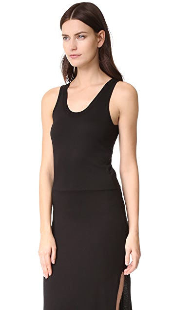 MONROW Knot Back Tank Dress