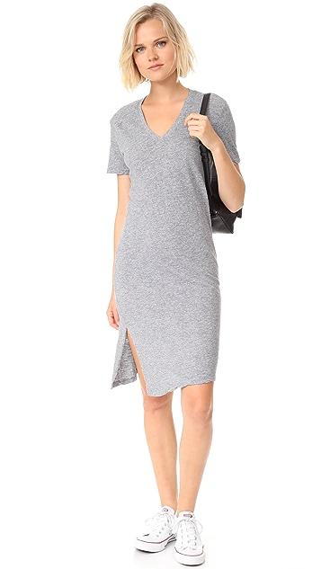 MONROW Oversized Knot Tee Dress