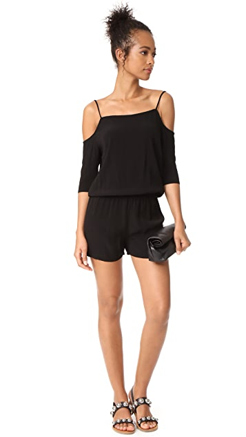 MONROW Cold Shoulder Romper