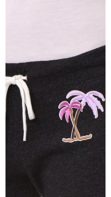 MONROW Vintage Sweatpants with Island Patches