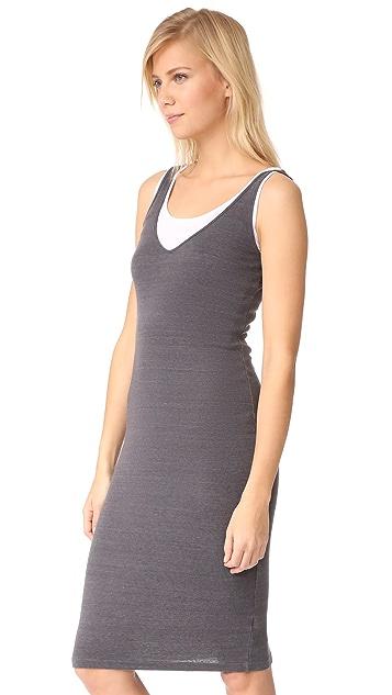 MONROW Double Layer Rib Tank Dress