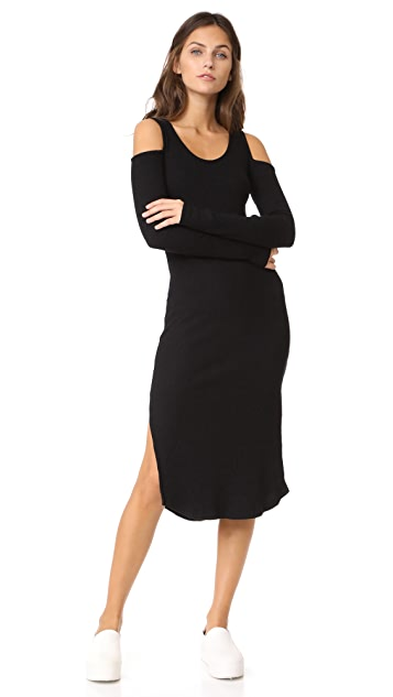 MONROW Cold Shoulder Long Sleeve Dress