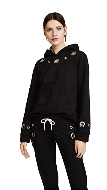 MONROW Hoodie With Eyelets