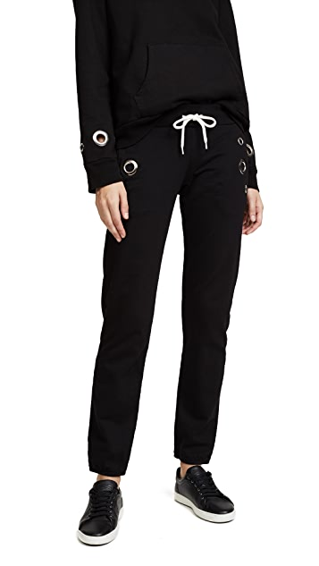 MONROW Sweatpants with Eyelets