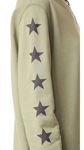 MONROW Stars Oversized Sweatshirt