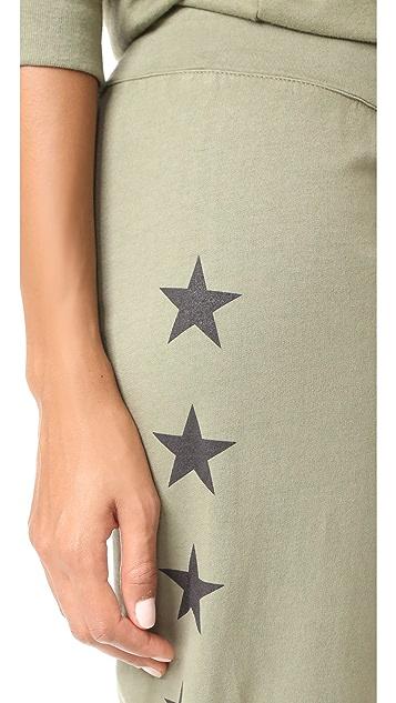 MONROW Foil Stars Vintage Sweats