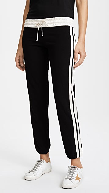 MONROW Contrast Stripe Sweatpants