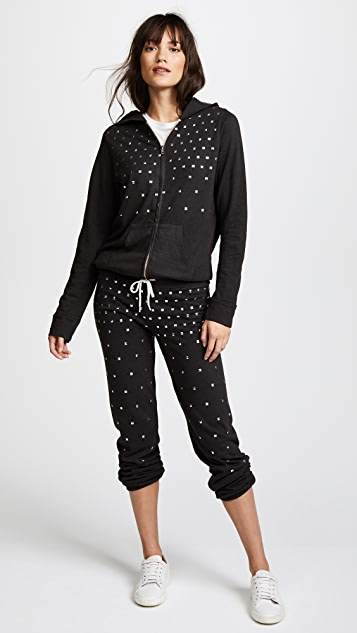 MONROW Vintage Sweatpants with Studs