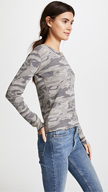 MONROW Camo Long Sleeve Tee