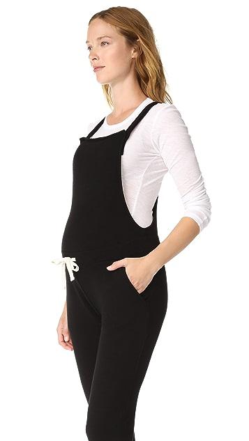 MONROW Maternity Drawstring Overalls